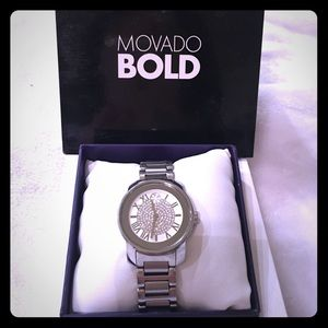 Movado Women's Stainless Steel Crystal Pave Watch